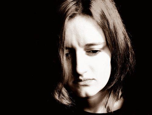 sad woman abstinence
